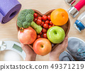Healthy lifestyle concept, clean food good health  49371219