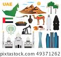 UAE Travel Icons Set  49371262