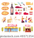 Pizza Icon Set 49371354
