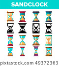 Sandclock Icon Set Vector. Timer Symbol. Interval Sandclock Icons Sign. Alarm Hourglass Pictogram 49372363