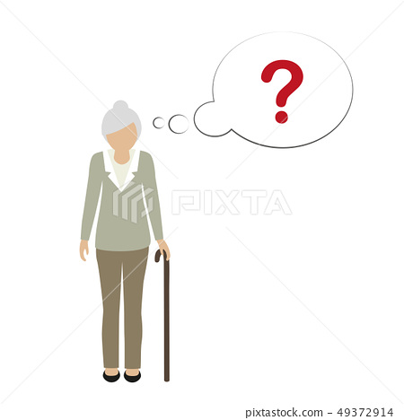 old woman character can not remember 49372914