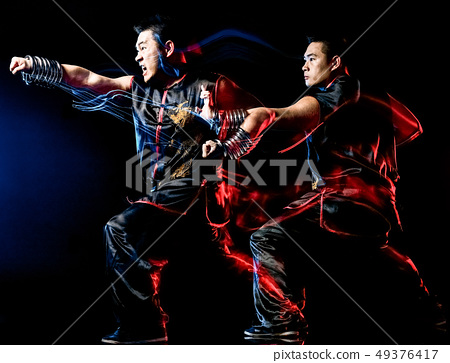 whushu chinese boxing kung fu Hung Gar fighter isolated man 49376417