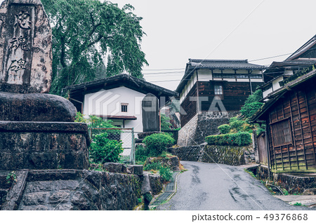 Kiso valley is the old  town or Japanese 49376868