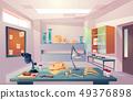Palaeontology, university genetics laboratory cartoon vector 49376898