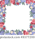 Floral frame for design save the date cards, invitations, posters and birthday decoration 49377200