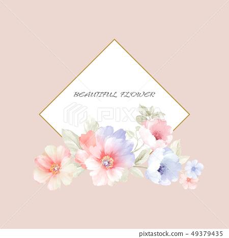 弦彩水彩手繪花卉 49379435