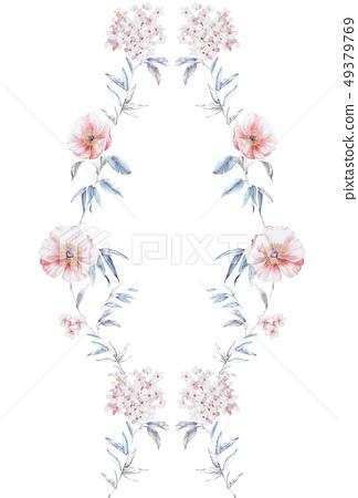 아름다운 수채화 꽃 49379769