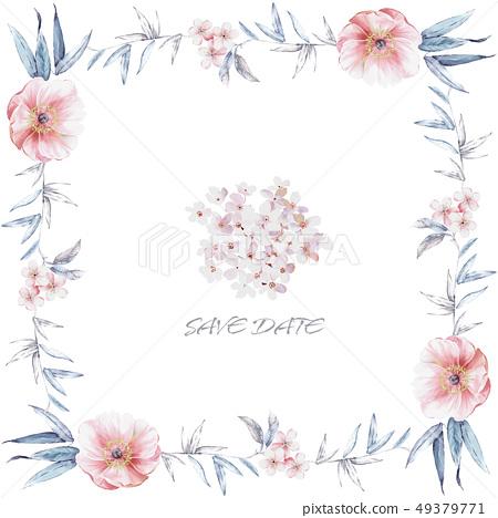 아름다운 수채화 꽃 49379771