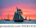 Sailing ships on the Baltic Sea in Warnemuende, 49381458