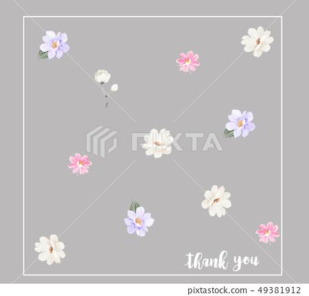 浪漫的水彩花卉 49381912