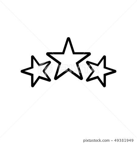 Award icon, stars logo in line style 49381949