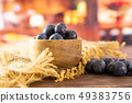 Fresh sweet blueberry with rustic kitchen 49383756