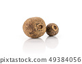 Dry allspice berries isolated on white 49384056