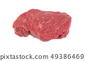 Fresh beef steak isolated on white background 49386469