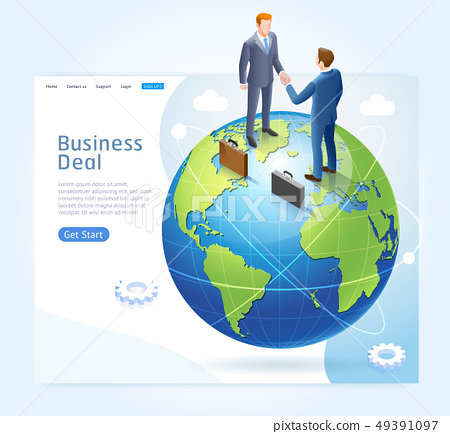 Business partnership conceptual design. 49391097