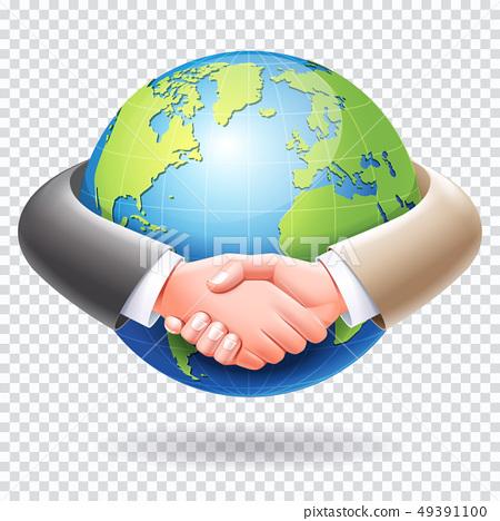 Business partnership conceptual design. Business 49391100