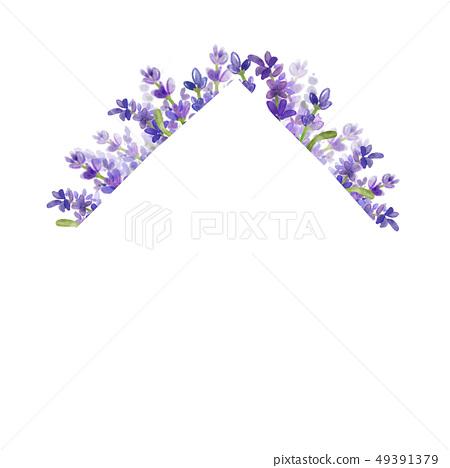 Lavender floral frame.- Wedding, advertisement, cover 49391379