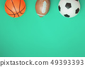 Football rugby and basketball concept with balls 49393393