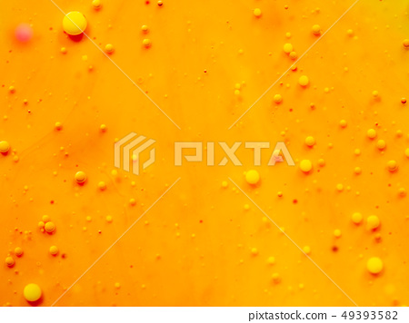 Macro shot of yellow bubbles, abstract background 49393582