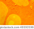 Yellow pattern and bubbles on abstract background 49393596