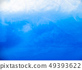Ink in water, close up. Abstract background. Blue 49393622