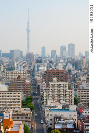 東京的鳥瞰圖,摩天大樓,鳥瞰圖[東京天空樹] 49393651