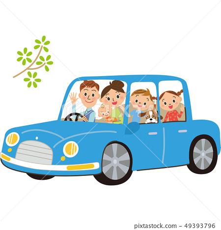 和家人一起開車 49393796