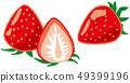 Strawberry fruit 49399196
