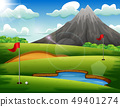 Golf course with beautiful landscape 49401274