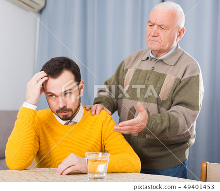 Father and son arguing 49401453