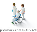 Doctors and seniors in wheelchairs 49405328