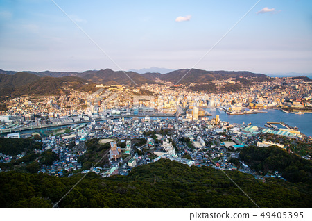 日本長崎稲佐山夜景 Asia, Japan, Nagasaki night view 49405395