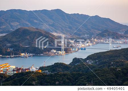 日本長崎稲佐山夜景 Asia, Japan, Nagasaki night view 49405401