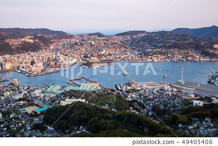 日本長崎稲佐山夜景 Asia, Japan, Nagasaki night view 49405408