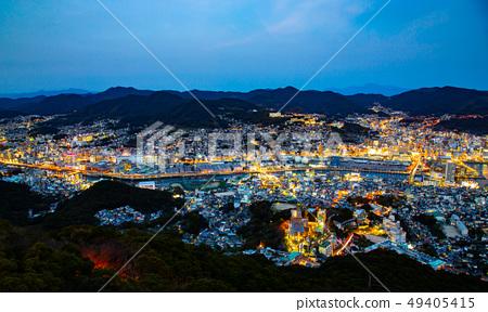 日本長崎稲佐山夜景 Asia, Japan, Nagasaki night view 49405415
