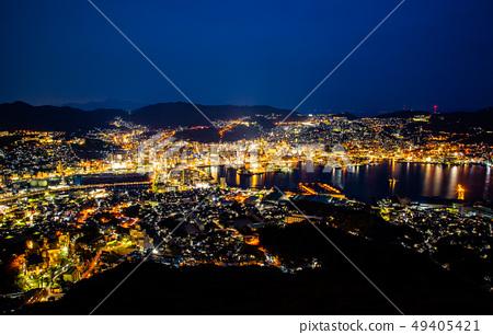 日本長崎稲佐山夜景 Asia, Japan, Nagasaki night view 49405421