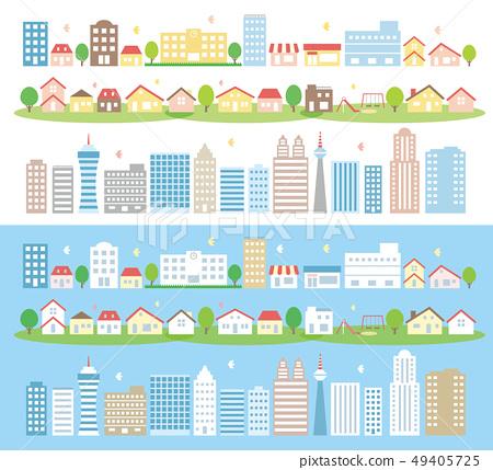 도시와 집과 빌딩 49405725