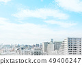 panoramic modern city skyline mix sketch effect 49406247