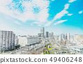 panoramic modern city skyline mix sketch effect 49406248