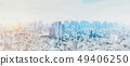 panoramic modern city skyline mix sketch effect 49406250