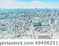 panoramic modern city skyline mix sketch effect 49406251