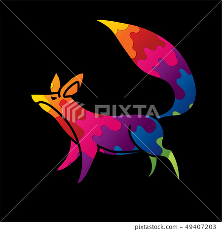 Fox cartoon graphic vector 49407203