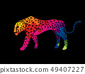 Cheetah side view graphic vector 49407227