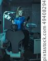 Horror scene in dentist office 49408294