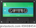 green,blue and black audio cassette 49408454