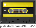 3d illustration of an yellow and black audio 49408455