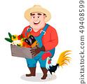农民 农夫 蔬菜 49408599