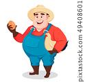 农民 农夫 鸡蛋 49408601