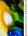 Colorful liquids mixed together to abstract shapes 49408919