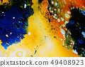 Colorful liquids mixed together to abstract shapes 49408923